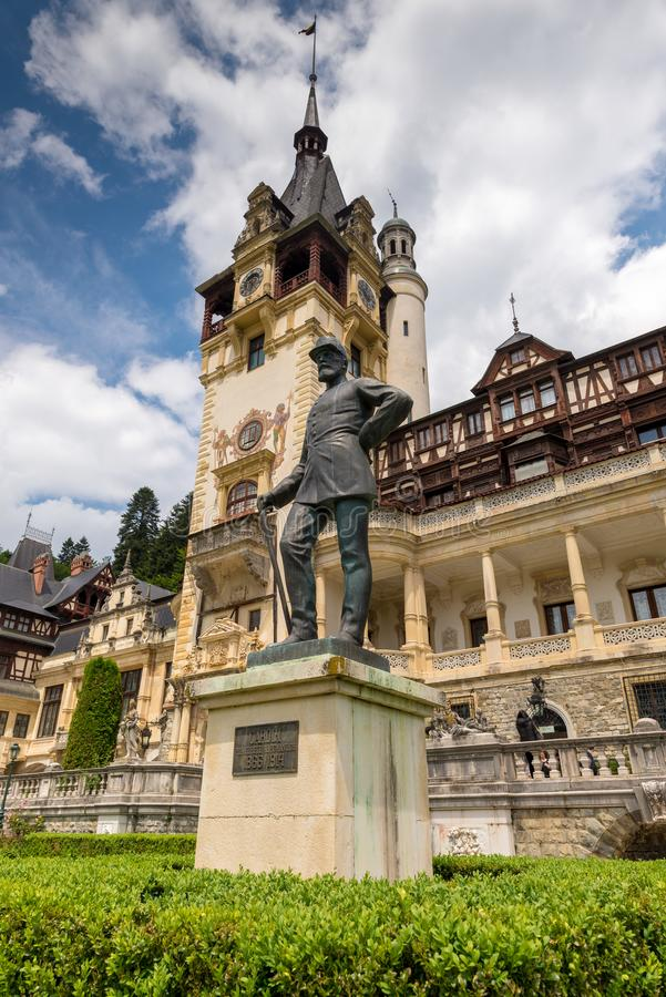 Peles Castle, Sinaia, Romania stock images