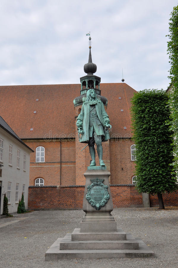 Statue of Chancellor Peder Griffenfeld, Copenhagen. Denmark stock photo
