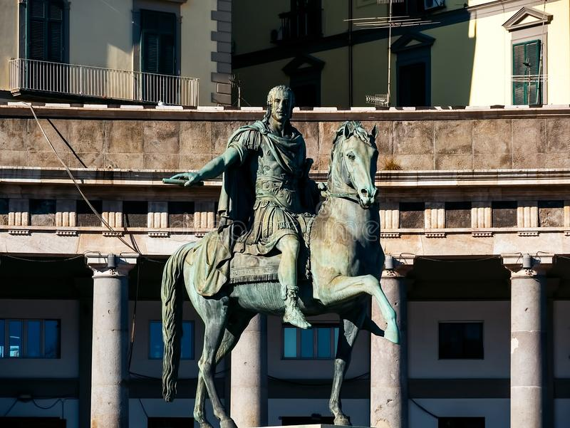 Statue of Charles III of Spain, Naples, Italy royalty free stock photos