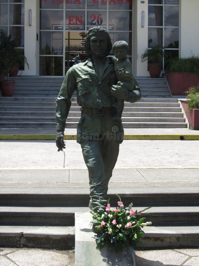 Statue Che und des Kindes in Santa Clara, Kuba stockfotografie