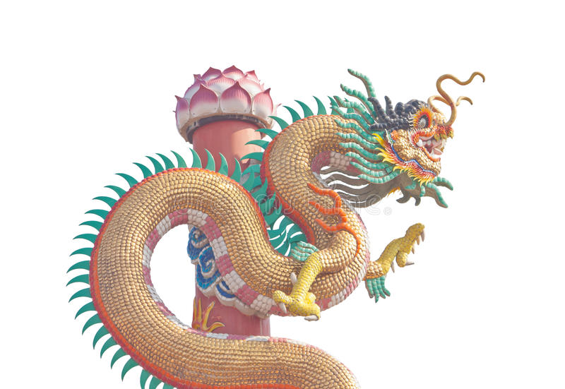 Download Statue chinoise de dragon image stock. Image du pouvoir - 76082895