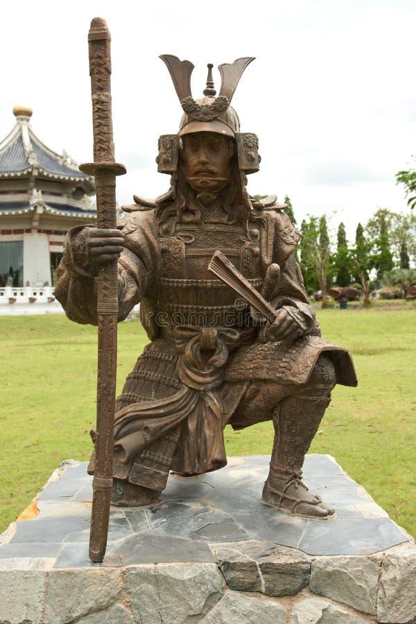 Statue chinoise de guerrier image libre de droits