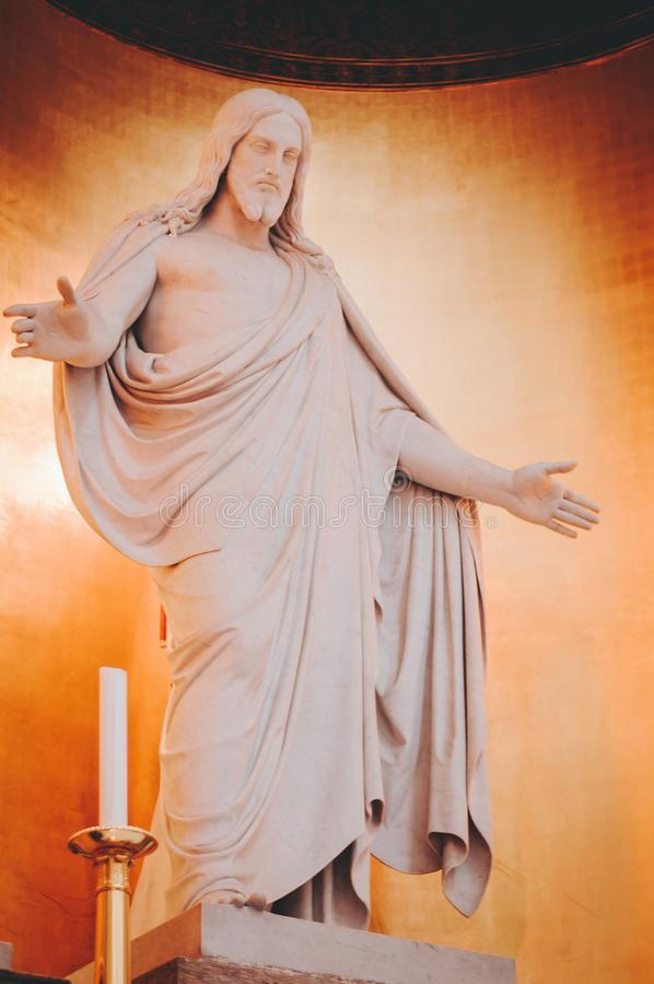 Christ Statue in Copenhagen royalty free stock image