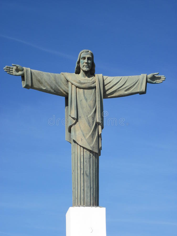 Statue of Christ the Redeemer royalty free stock photos