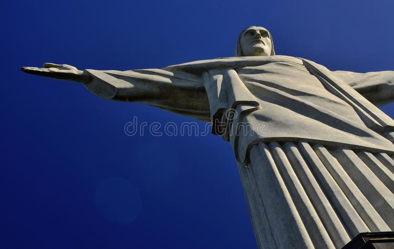 Statue of Christ the redeemer in Rio de Janeiro royalty free stock photography