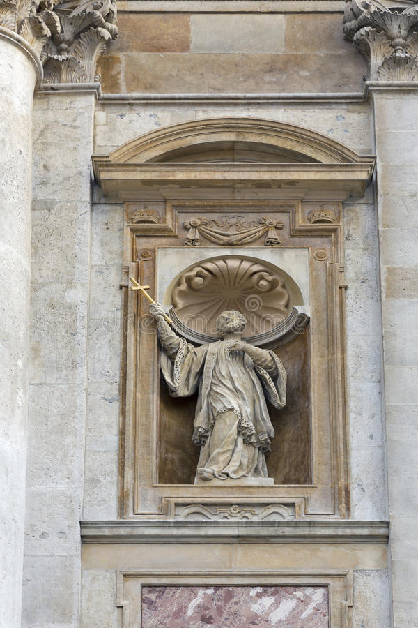 Statue Church of Holy Apostles Peter and Paul. Krakow, Poland. royalty free stock photos