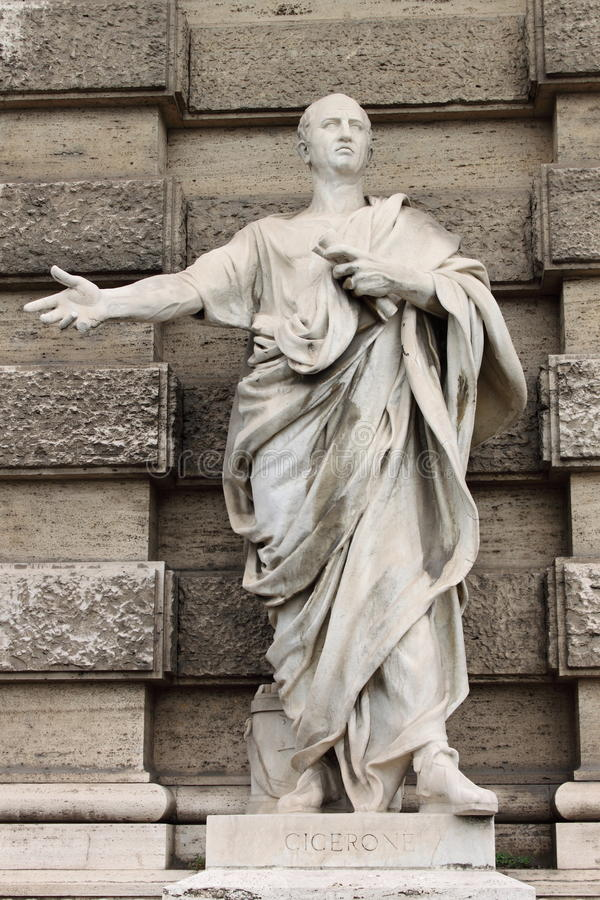 Download Statue of Cicero stock photo. Image of ages, authority - 26919910
