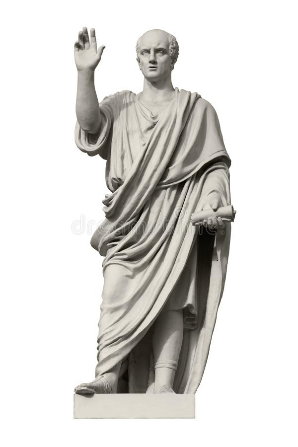 Statue of Cicero, a Roman statesman, lawyer, orator and philosopher royalty free stock photo