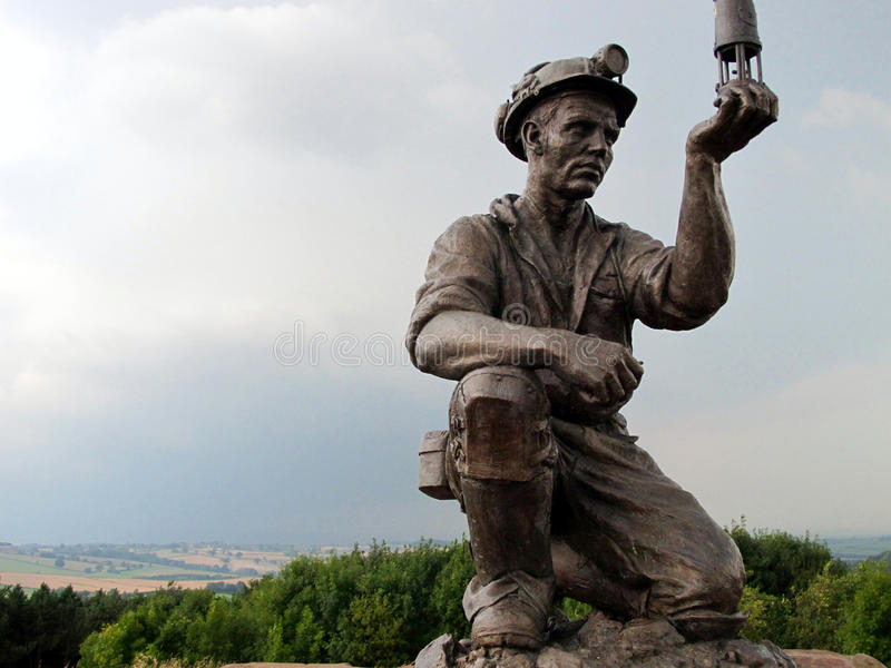 Statue of a coal miner. stock photo