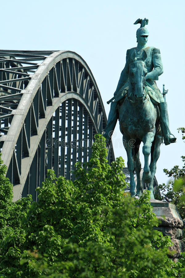 Statue in Cologne royalty free stock photos