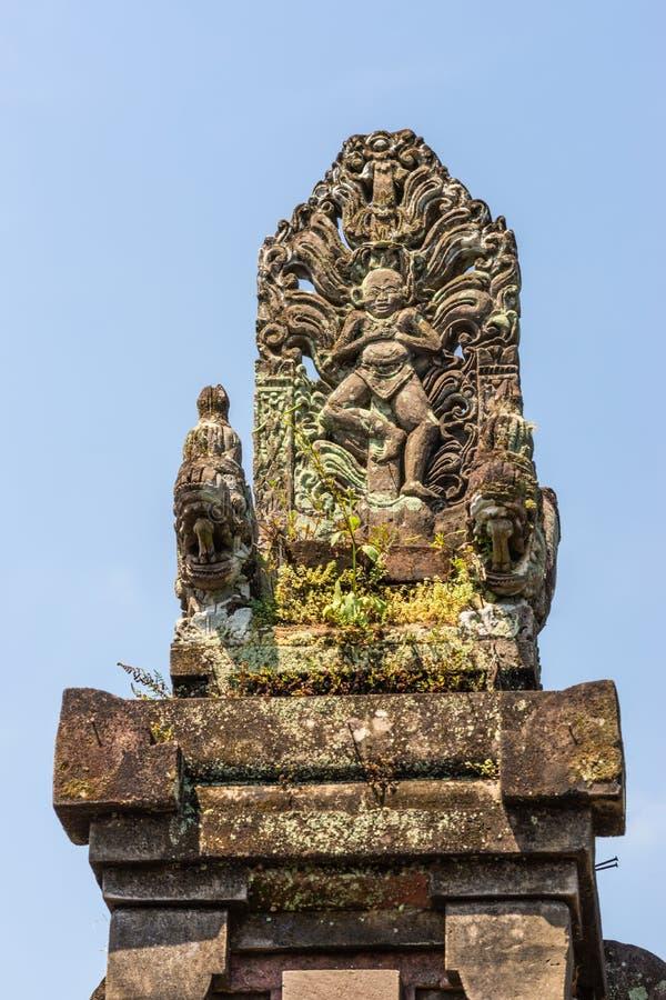 Statue comm?morative au compos? de clan, Dusun Ambengan, Bali Indon?sie images libres de droits