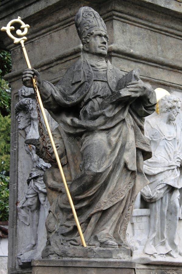 Statue commémorative de St John de Nepomuk image stock
