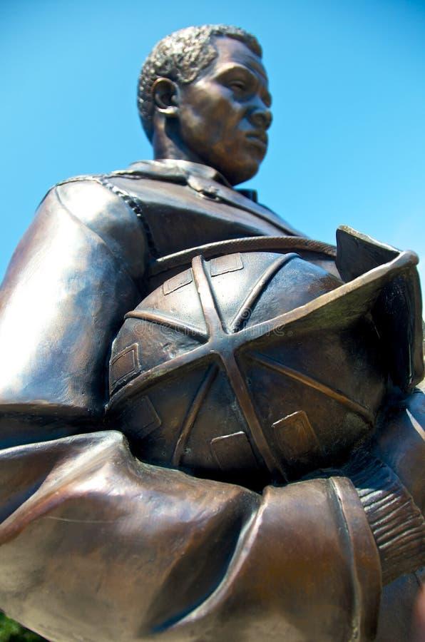 Statue commémorative Kansas City de sapeur-pompier photographie stock