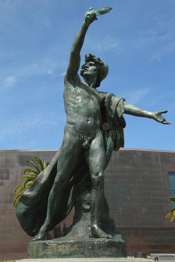 Statue commemorated California Midwinter International Exposition of 1894 at the Golden Gate Park in San Francisco royalty free stock photos