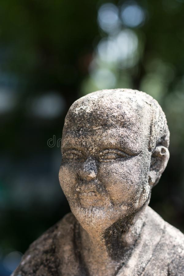 Statue concrete d'annata in Wat Chai Mongkon - tempio buddista, immagini stock libere da diritti