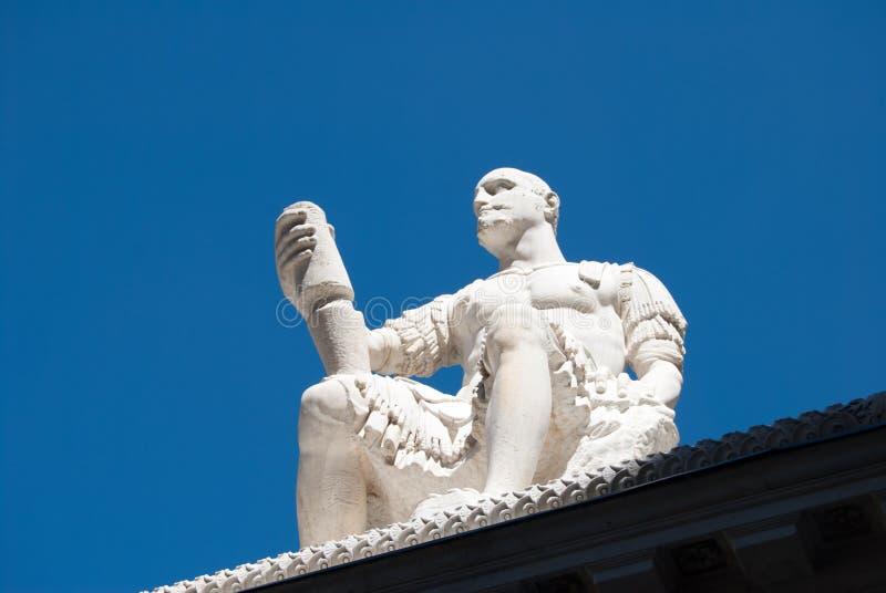statue of the condottieri Jean de Médicis sitting in Florence, Tuscany, Italy. - next to the the Basilica of San Lorenzo. Monumen stock photos