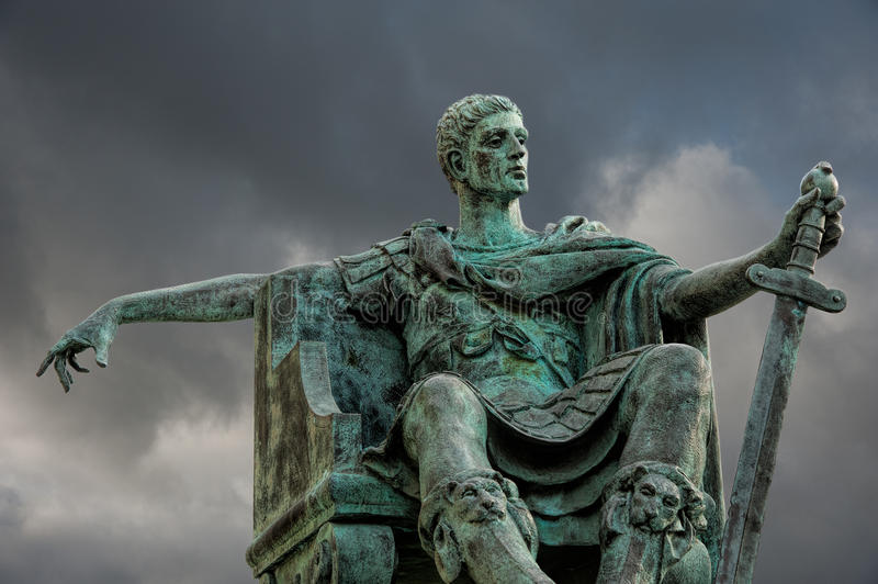 Download Statue of Constantine editorial photography. Image of historic - 35077507