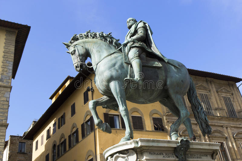 Statue of Cosimo I°. Florence italy statue of Cosimo I royalty free stock images