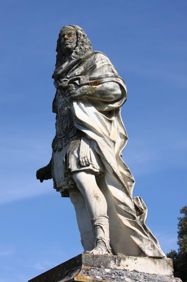 Statue of Cosimo III dei Medici. In San Quirico d'Orcia, Italy stock image