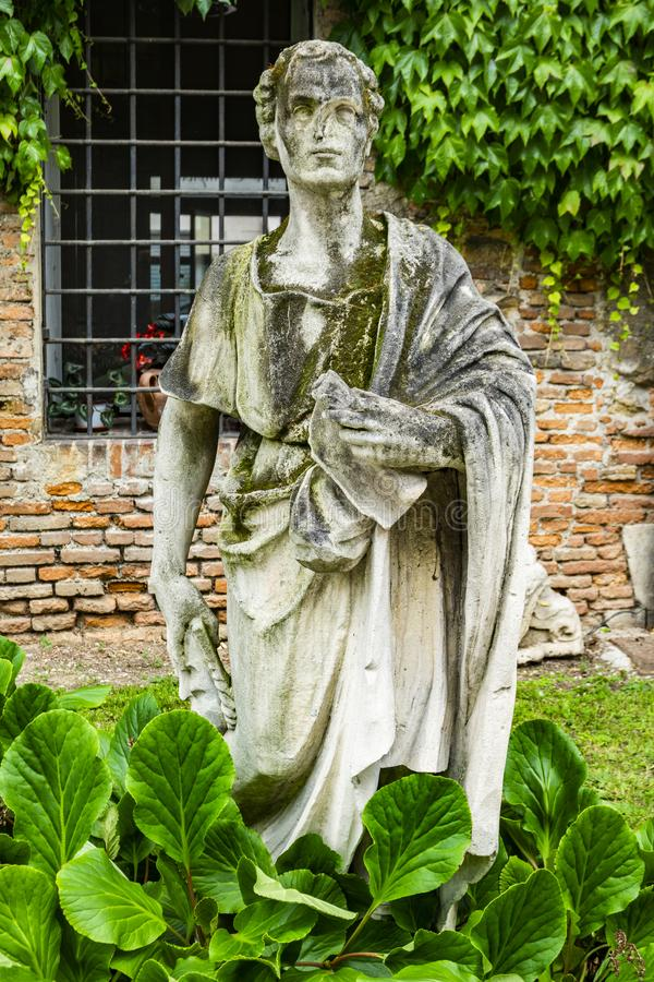 Statue at courtyard of the Teatro Olimpico in Vicenza, Italy royalty free stock photos