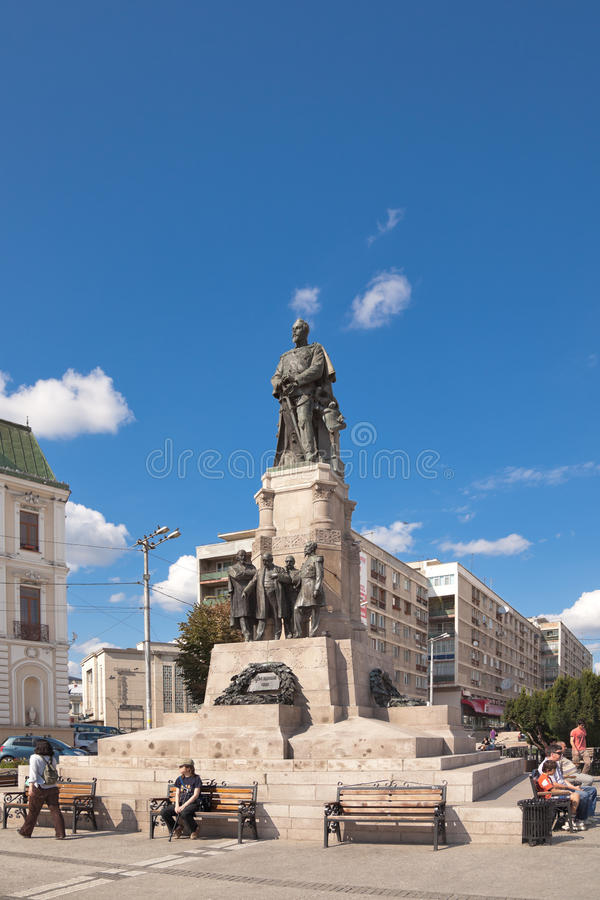 Statue of Cuza royalty free stock photo