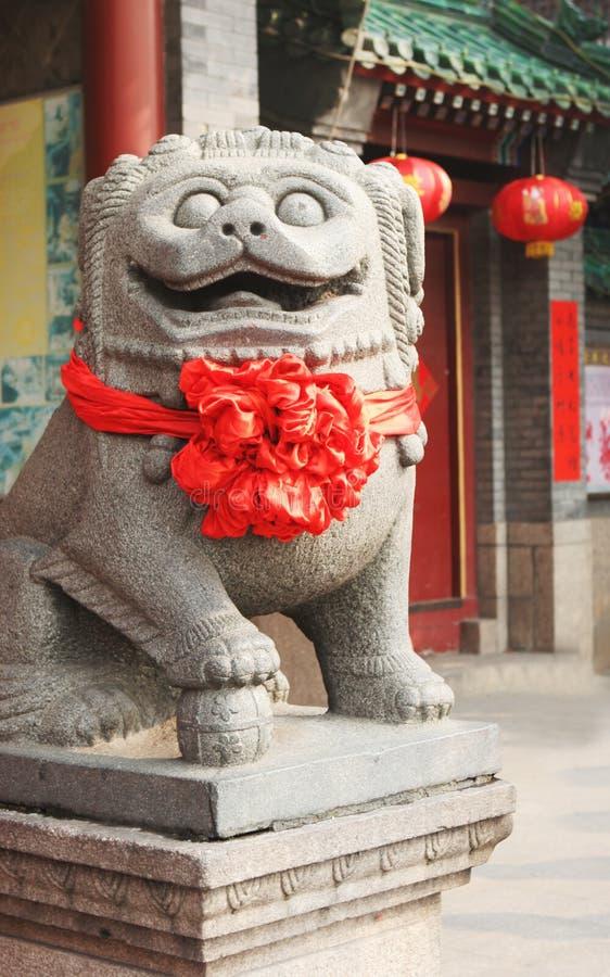 Statue décorée pendant l'année neuve chinoise images libres de droits