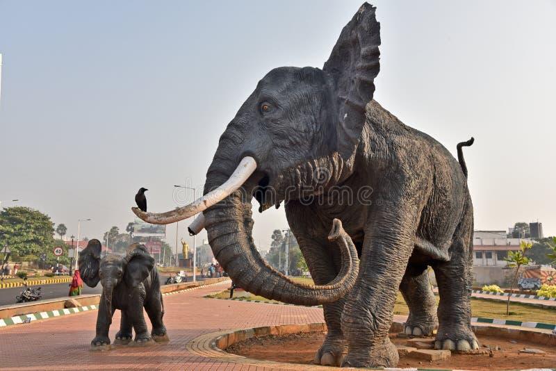 Statue d'éléphant - Vizag image stock