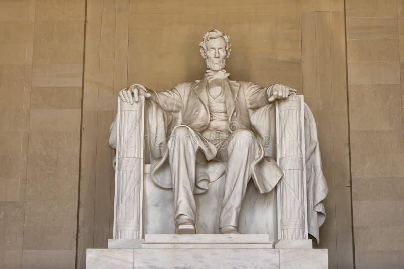 Statue d'Abraham Lincoln au mémorial de Washington DC image libre de droits