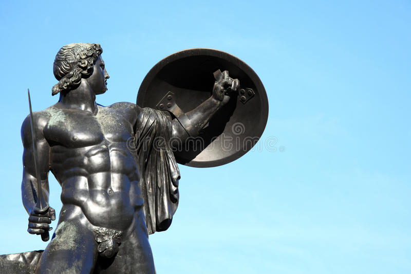 Statue d'Achille photo stock