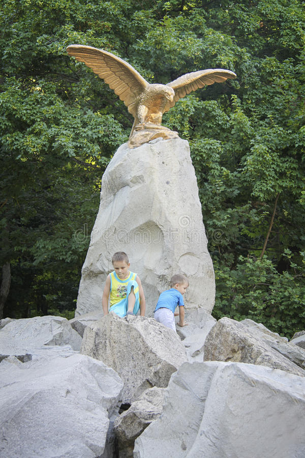 Statue d'aigle images libres de droits