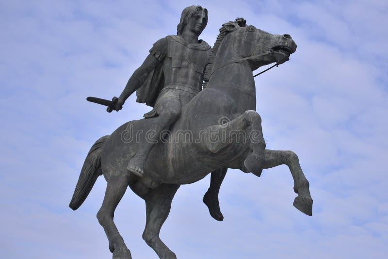 Statue d'Alexander The Great, Salonique, Grèce photo libre de droits