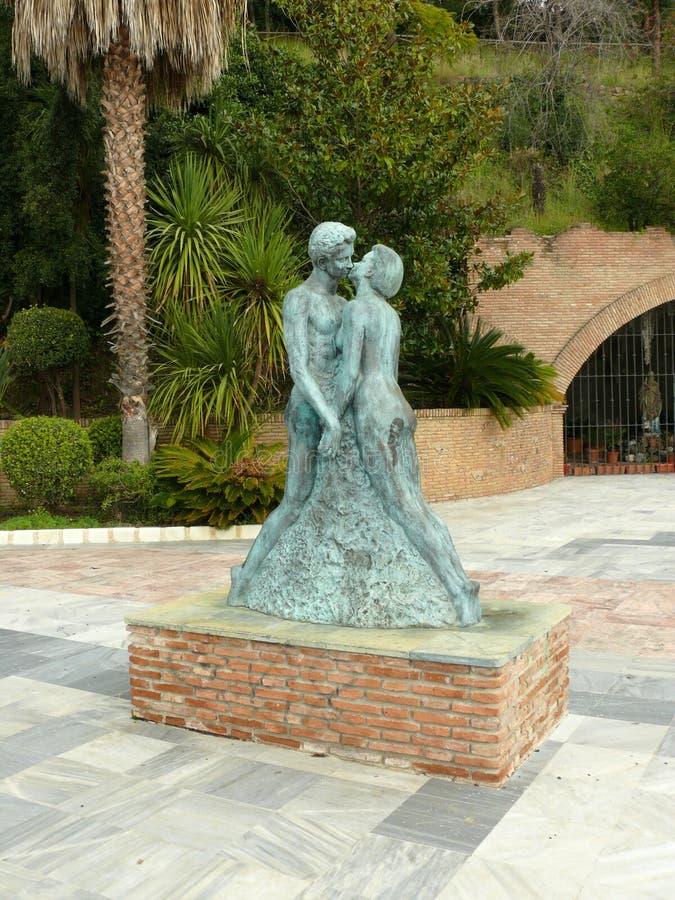 Statue d'amour à Marbella photo stock