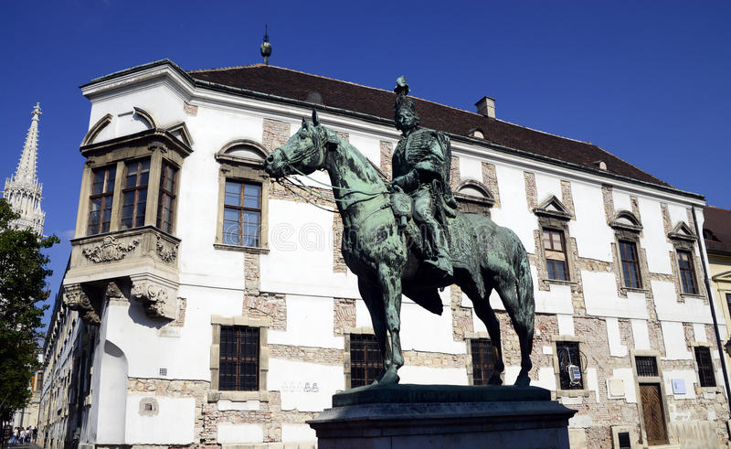 Statue d'Andras Hadik images libres de droits
