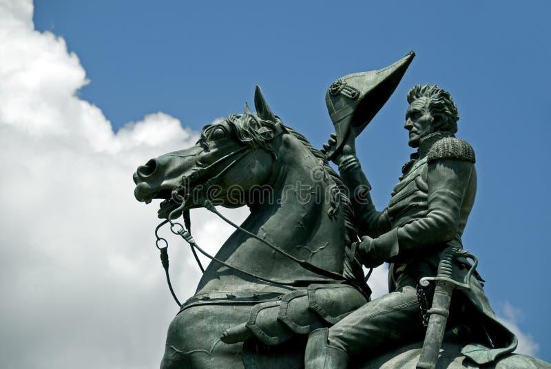 Statue d'Andrew Jackson images libres de droits