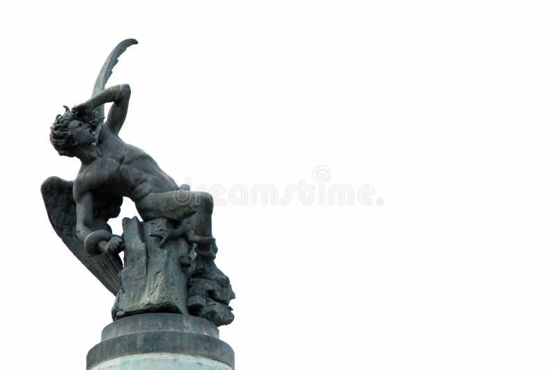 Statue d'ange tombé Madrid photos libres de droits