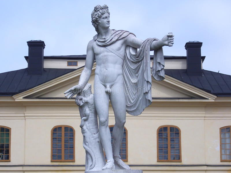 Statue d'Apollo photographie stock libre de droits