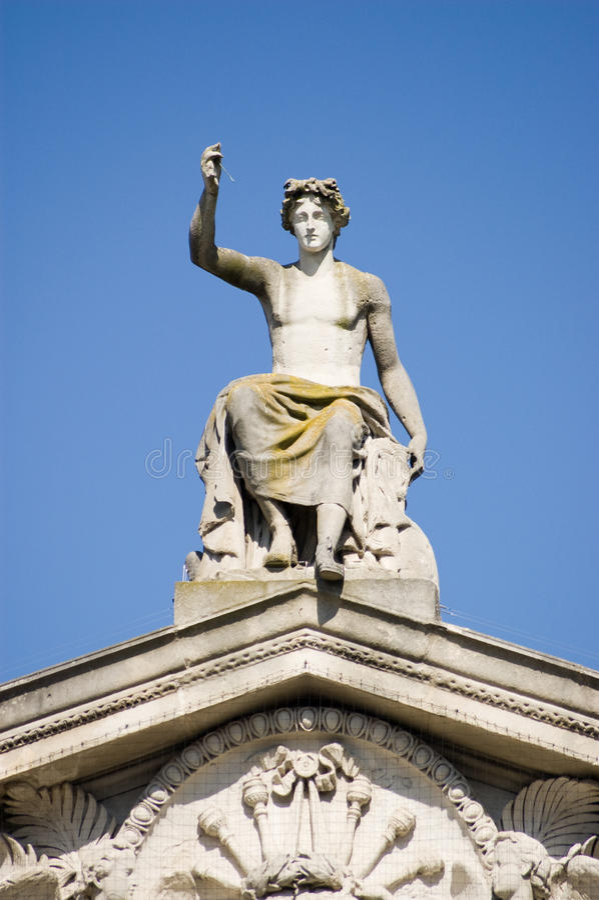 Statue D Apollo, Musée D Ashmoleon, Oxford Photo stock