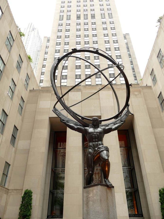 Statue d'atlas à New York City images stock