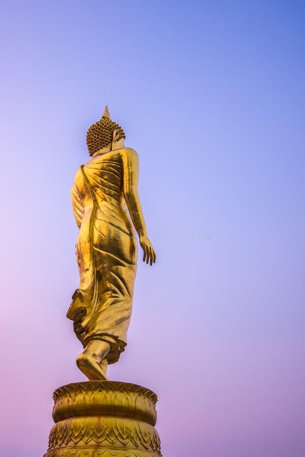 Statue d'or de Bouddha images libres de droits