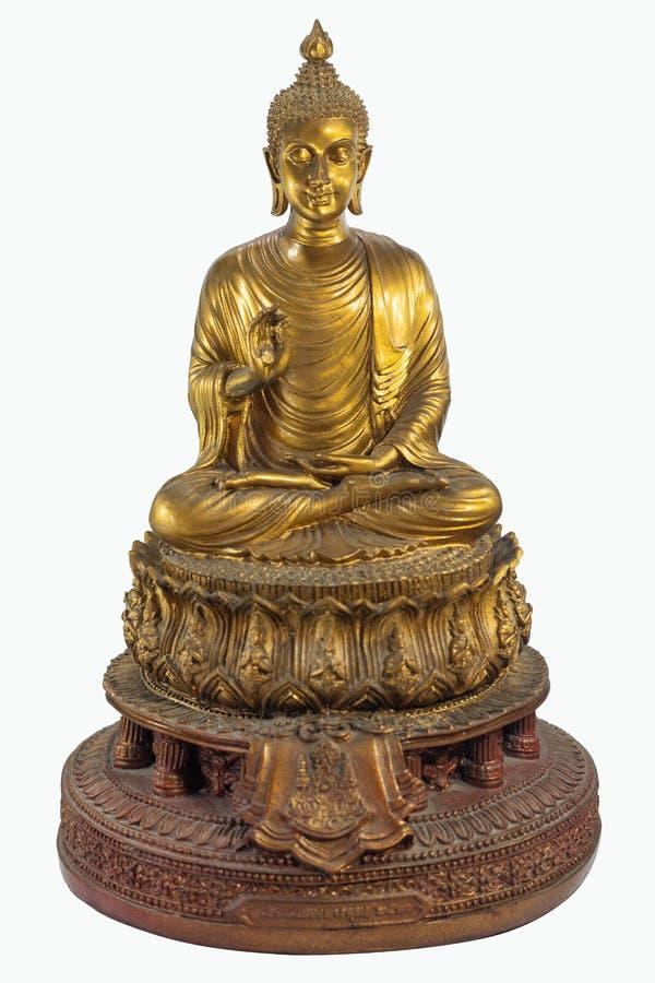 Statue d'or de Bouddha un dieu de croyance d'Inde dans la religion objet antique thaïlandais de culture photos libres de droits