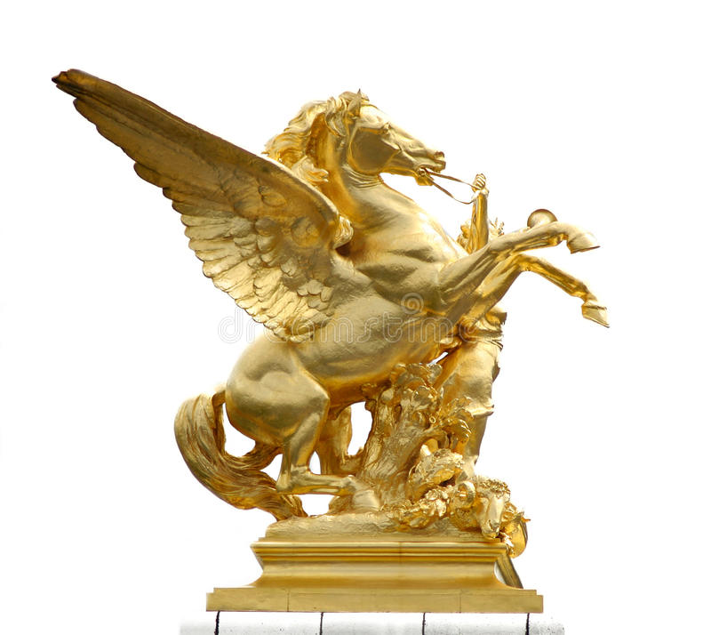 Statue d'or de cheval photos libres de droits