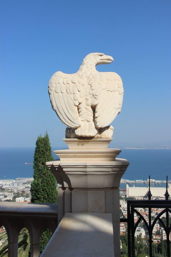 Statue d'Eagle de Haïfa en Israël image stock