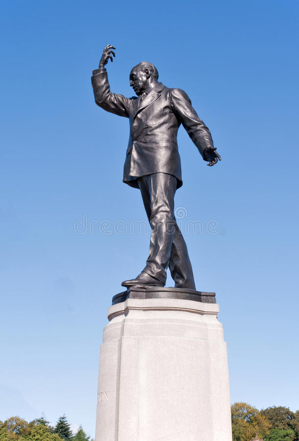 Statue d'Edward Carson photo stock
