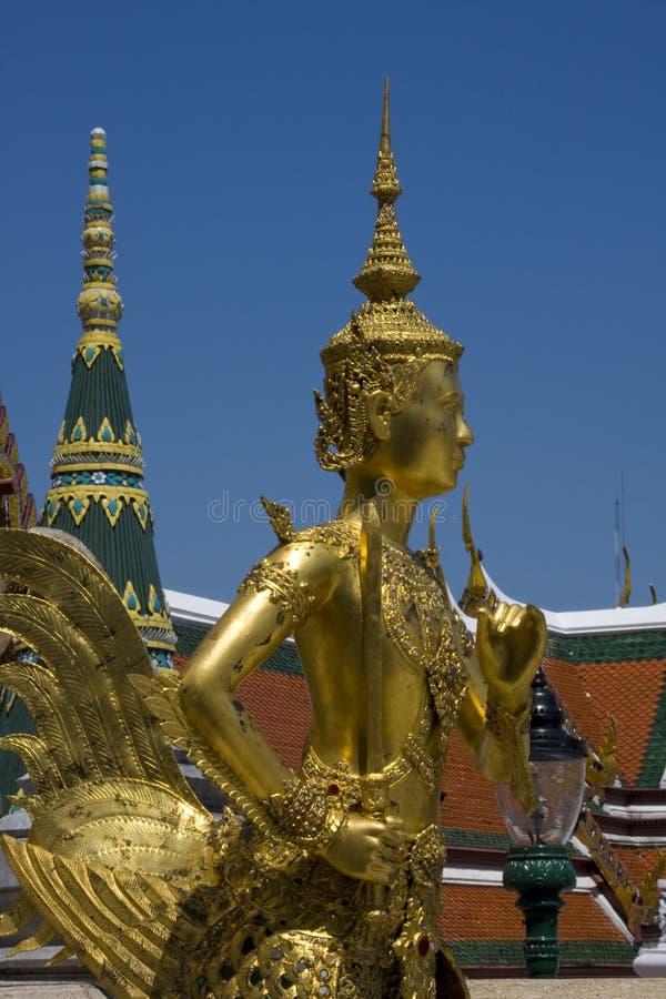 Statue d'or en Thaïlande, Bangkok. photographie stock