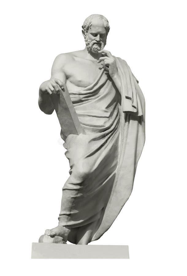 Statue d'Euclid, le mathématicien du grec ancien photo stock