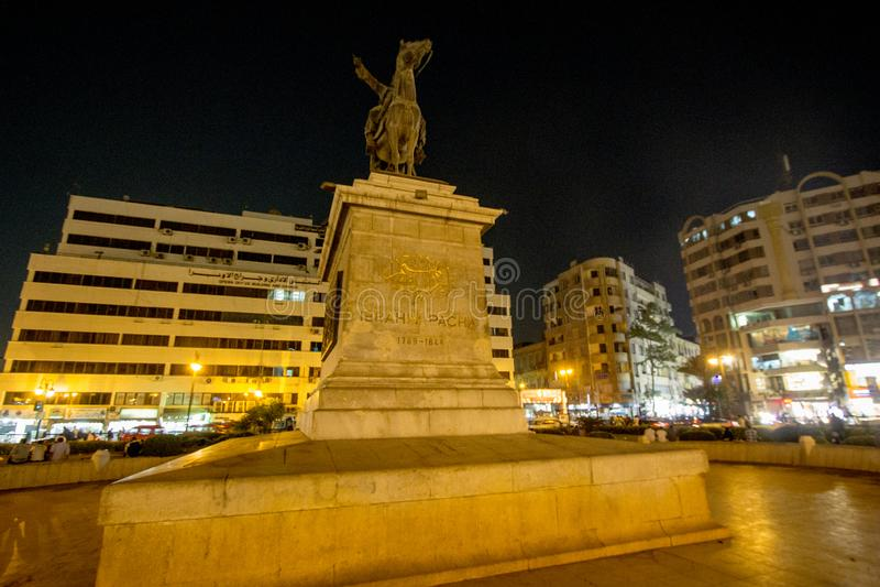 Statue d'Ibrahim Pasha photos libres de droits