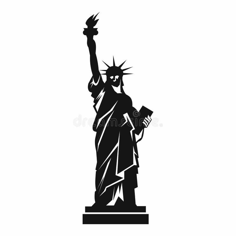 Statue d'icône de liberté, style simple illustration stock