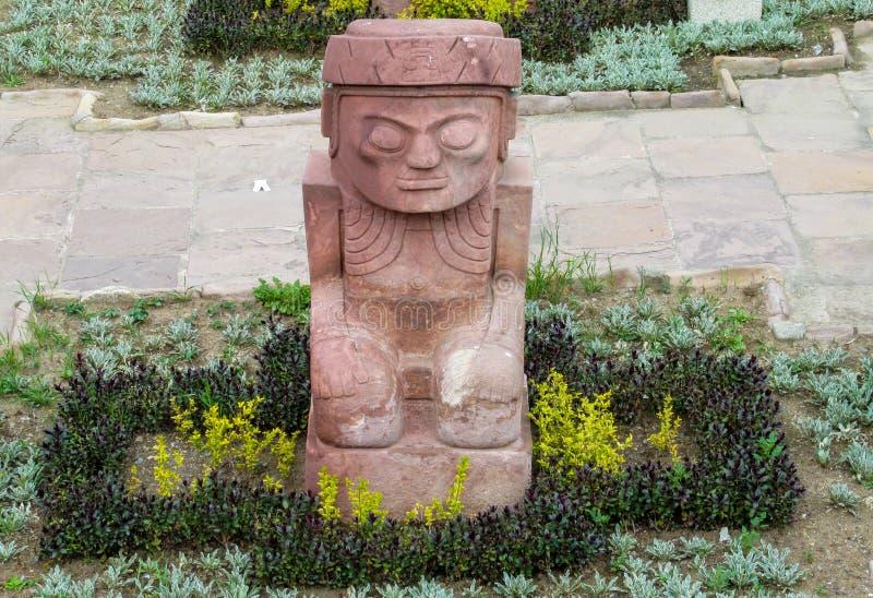 Statue d'idole de Tiwanaku dans La Paz, Bolivie images stock