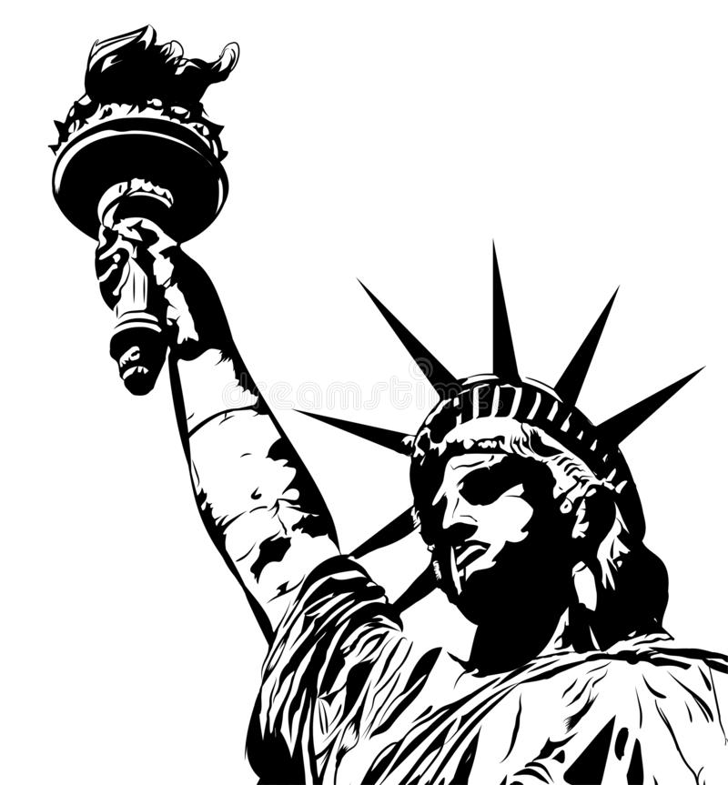 Statue d'image de vecteur de libert? image stock