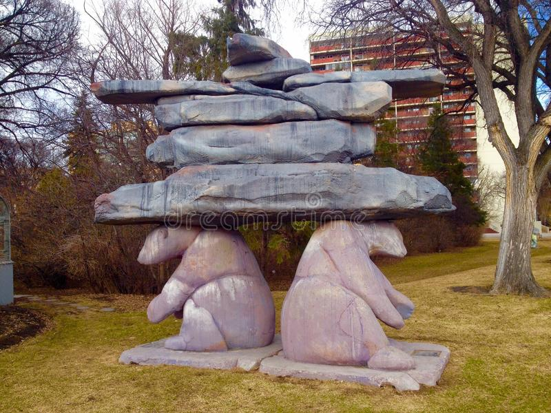Statue d'Inuksuk photos libres de droits
